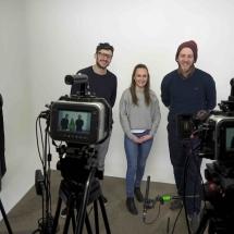 Three camera 4k Blackmagic studio shoot
