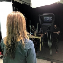 Shooting with our autocue prompter